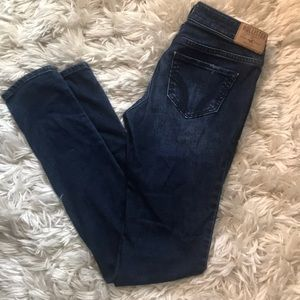 Size 0R Hollister Dark Distressed Jeans